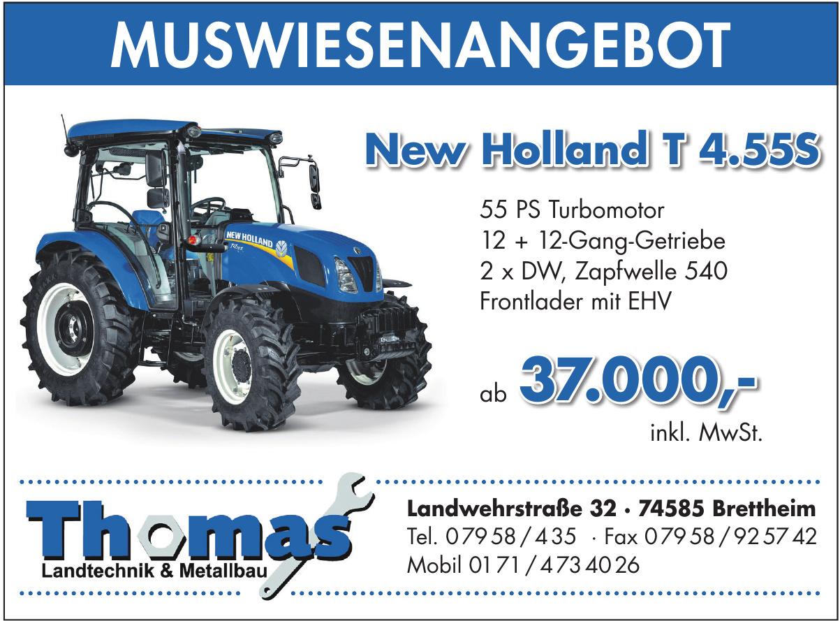 Thomas Landtechnik &Metallbau