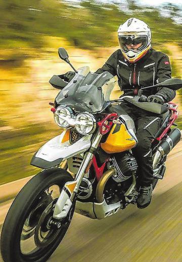 Die V85 TT von Moto Guzzi kommt ausItalien ins Daadetal. Foto: Moto Guzzi