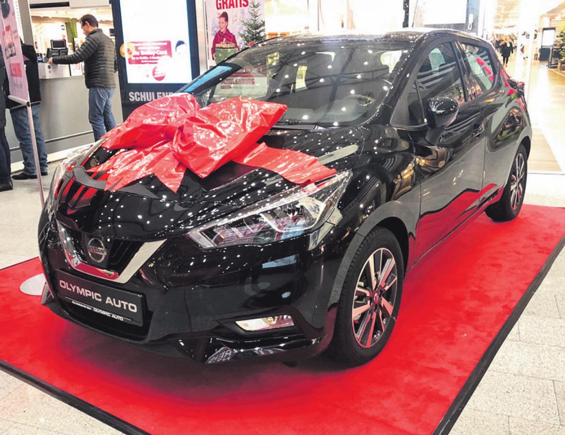 In den Schulenburg-Einrichtungshäusern in der Wohnmeile Halstenbek und in Wentorf wird am verkaufsoffenen Sonntag je ein Nissan Micra im Wert von 17.000 Euro verlost