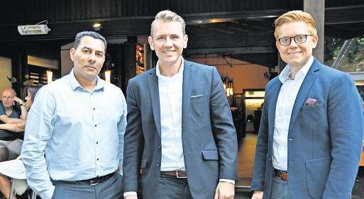 Sukret Arslanovski (von links), Lars Barnstorf und Philipp Oehlmann berichteten über die guten Möglichkeiten der Zusammenarbeit mit der Madsack Mediengruppe.