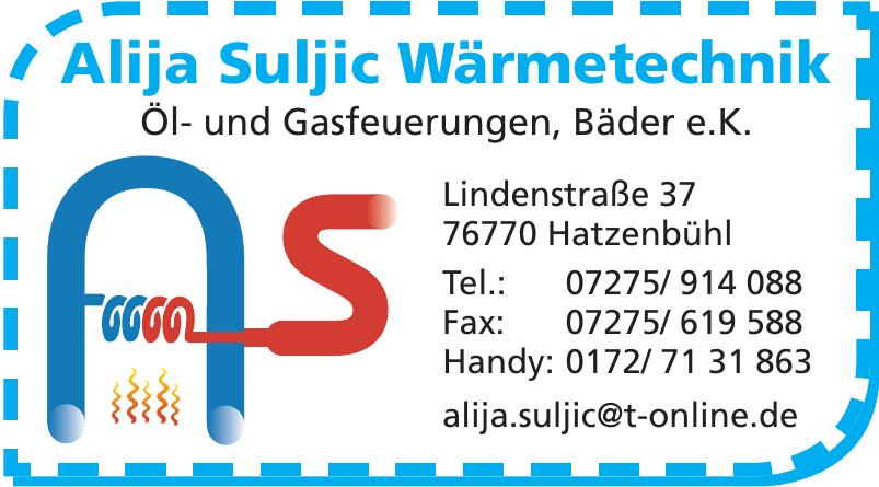 Alija Suljic Wärmetechnik Öl- und Gasfeuerungen, Bäder e.K.