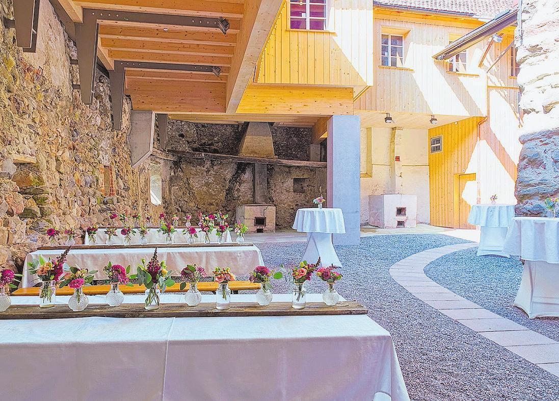 Der Schlosshof bietet eine einmalige Atmosphäre für Anlässe aller Art.