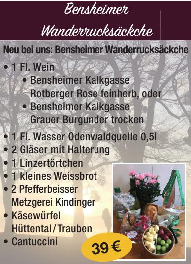 Bensheim Wanderrucksäckche