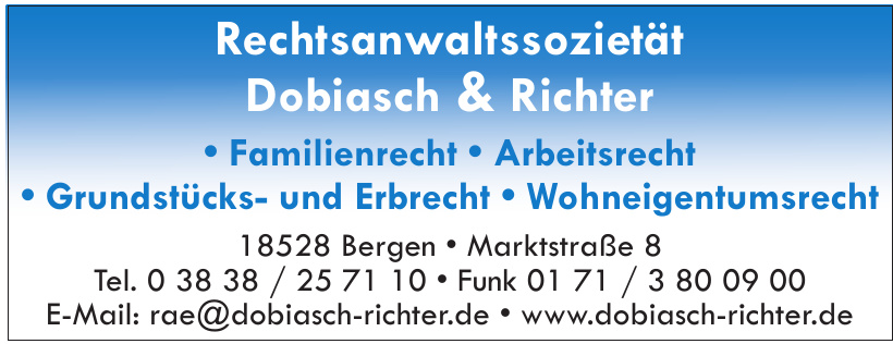 Rechtsanwaltssozietät Dobiasch & Richter