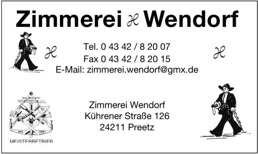 Zimmerei & Wendorf