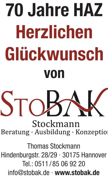 StoBAK Stockmann – Beratung, Ausbildung, Konzeption
