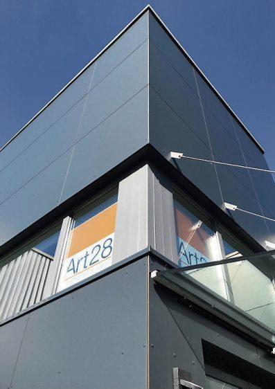 Das neue Firmengebäude von Art 28 in der Schaffhausenstraße.