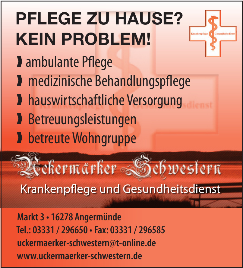 Uckermärker Schwestern - Krankenpflege- und Gesundheitsdienst