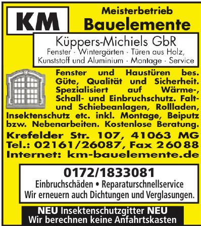 KM Bauelemente: Küppers-Michiels GbR