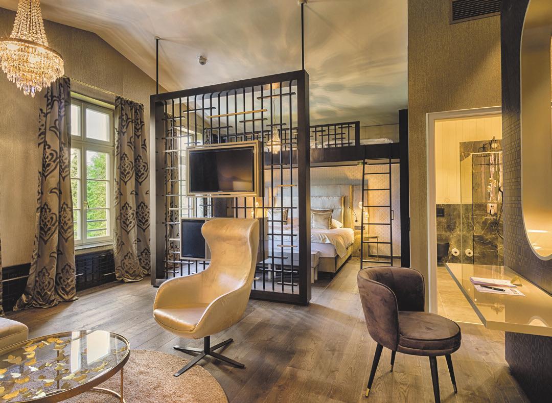 Eines der neuen stylischen Zimmer für Familien oder Paare. Foto: Parkhotel Adler