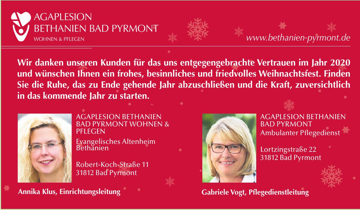 Agaplesion Bethanien Bad Pyrmont