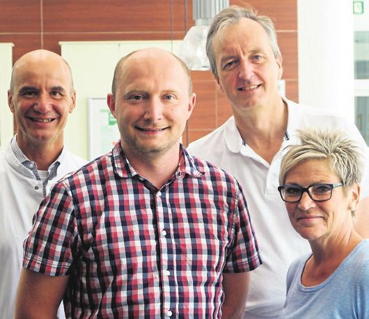 Haben als Team die Zertifizierung erfolgreich gestemmt: Prof. Klaus Empen, Johannes Lapius, Dr. med. Stefan Rosocha und Heike Bonin (v. li.).