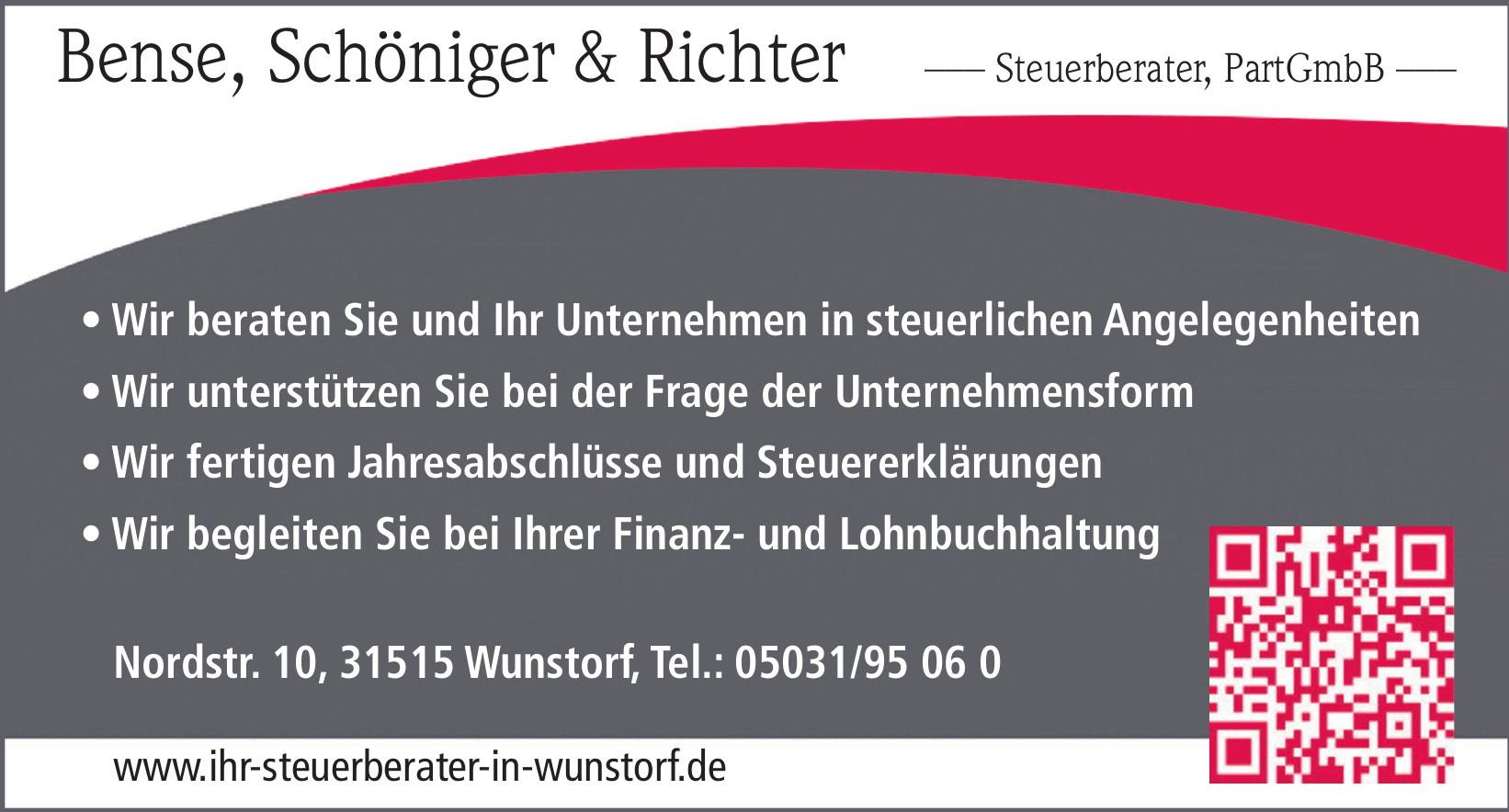 Bense, Schöniger & Richter, Steuerberater, PartGmbB