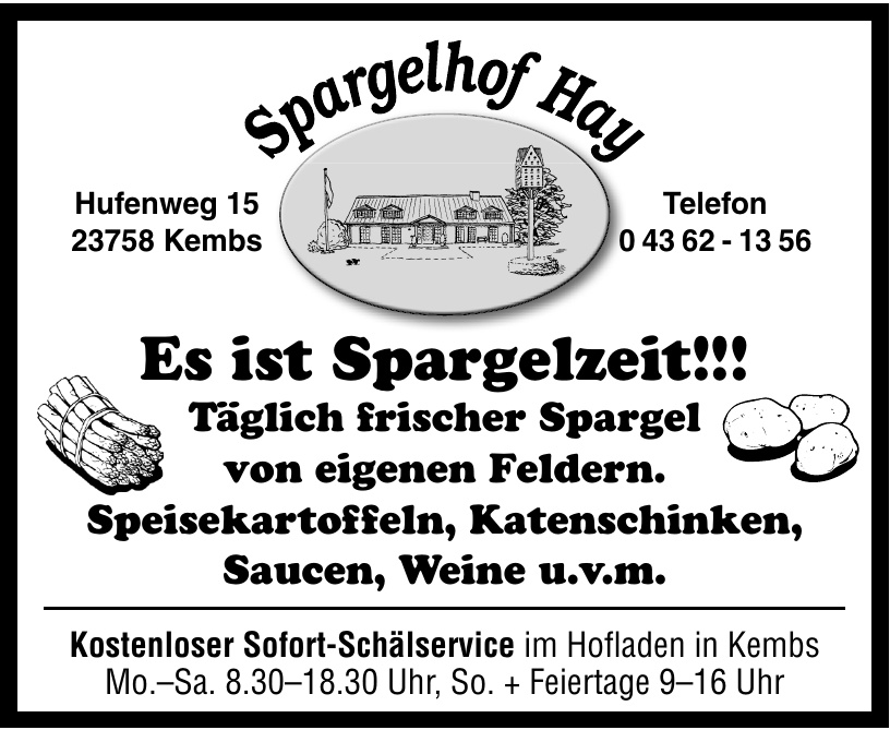 Spargelhof Hay