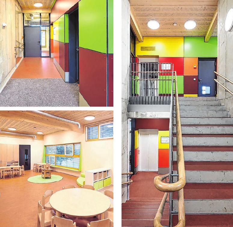 Das neue farbenfrohe Kinderhaus erweitert das Gemeindezentrum der Evangelisch-Freikirchlichen Gemeinde. Fotos: Conné van d`Grachten