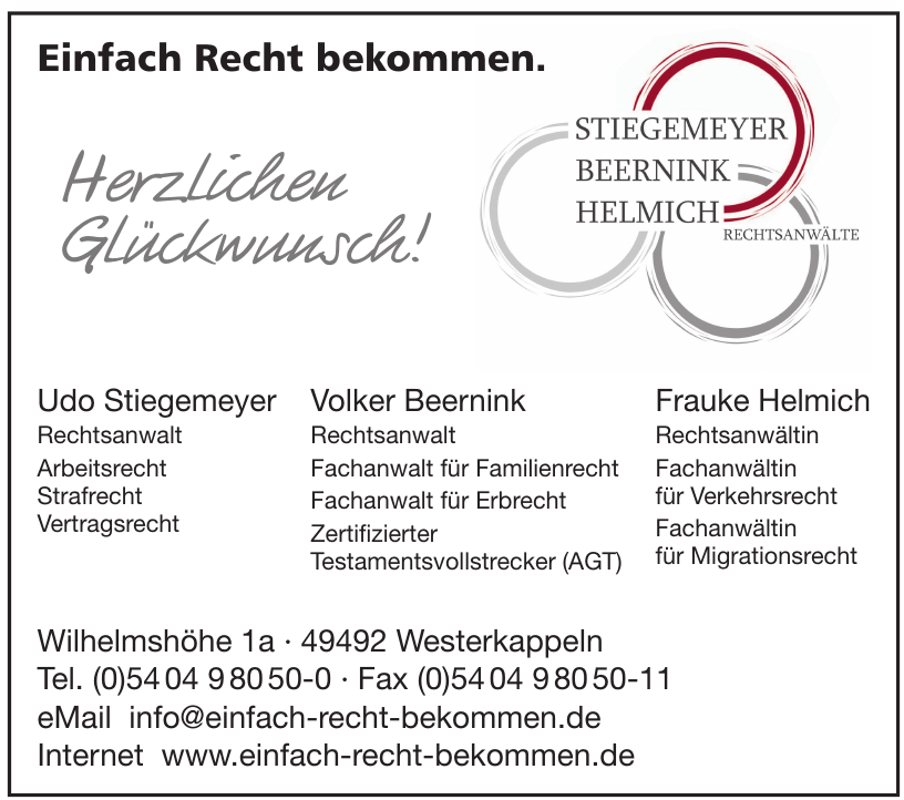 Stiegemeyer, Beernink, Helmich Rechtsanwälte
