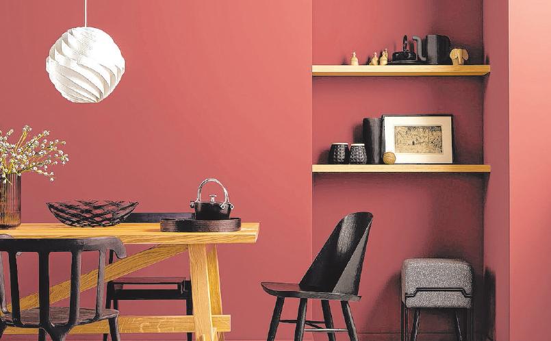 Farben, die man auch fühlen kann: Mit einer speziellen samtmatten Oberfläche erhalten Wände eine besondere haptische Wirkung.