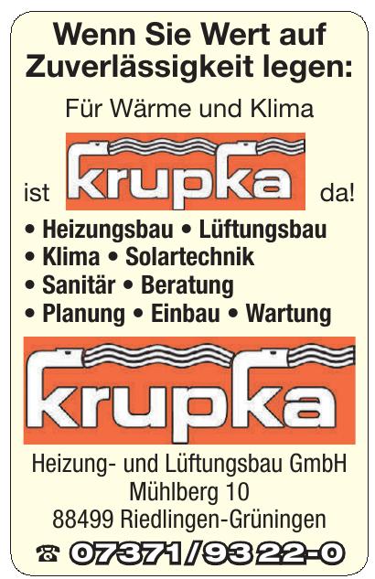 Krupka Heizung- und Lüftungsbau GmbH
