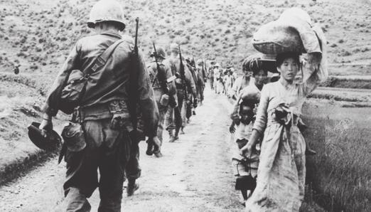 Der Korea-Krieg war eines der Themen in der ersten WAZ.