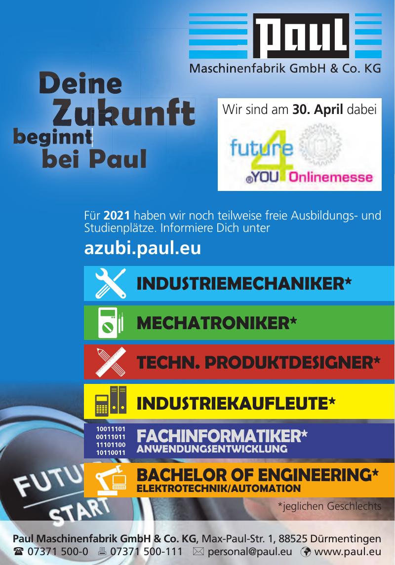 Paul Maschinenfabrik GmbH & Co. KG