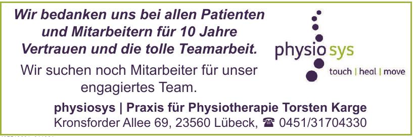 physiosys Praxis für Physiotherapie Torsten Karge
