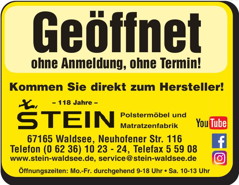 Stein - Polstermöbel und Matratzenfabrik