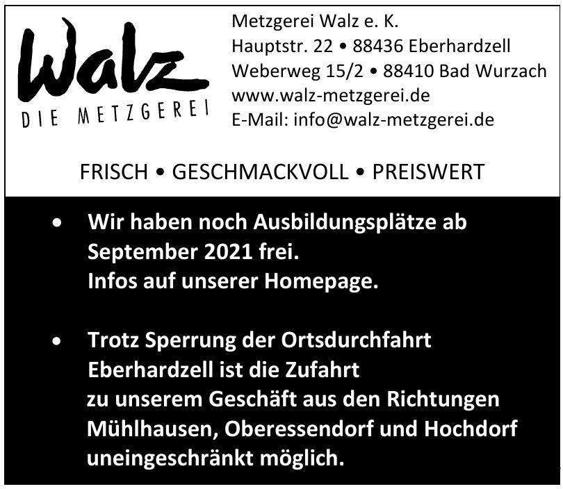 Metzgerei Walz e. K.
