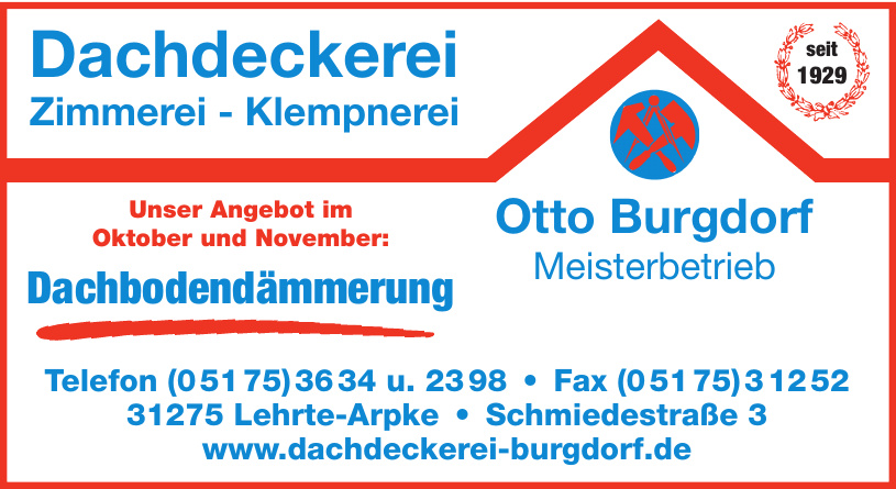 Dachdeckerei Otto Burgdorf