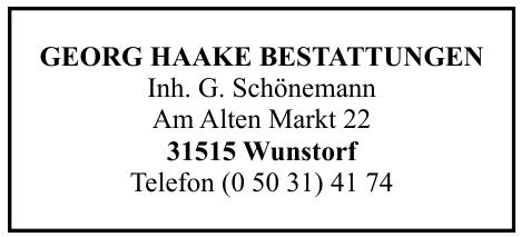 Georg Haake Bestattungen