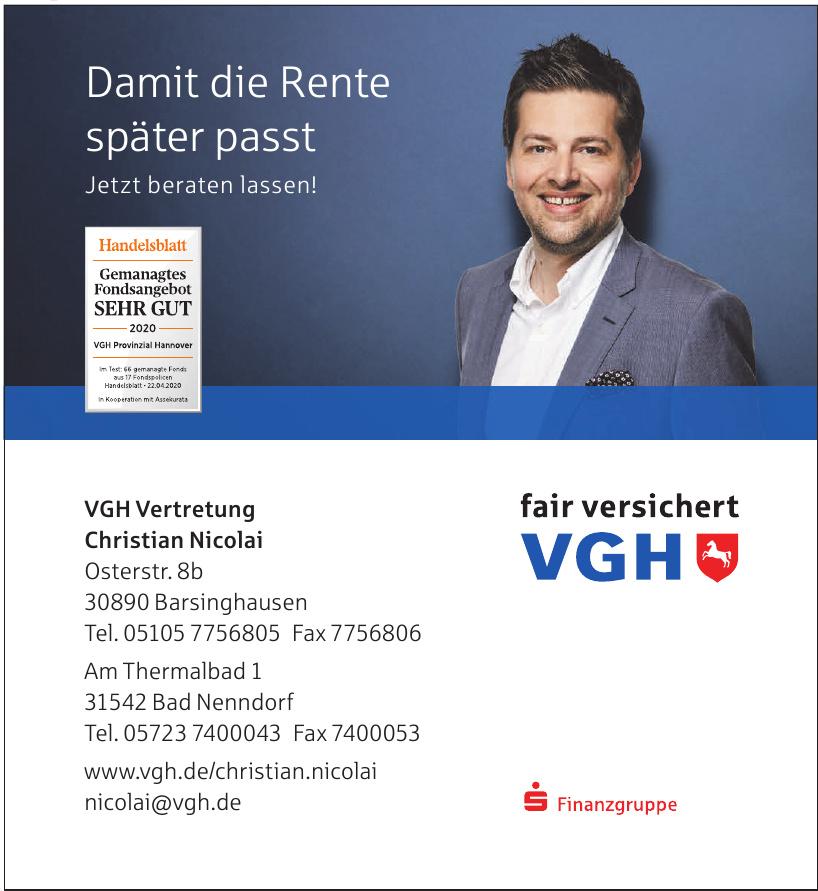 VGH Vertretung - Christian Nicolai
