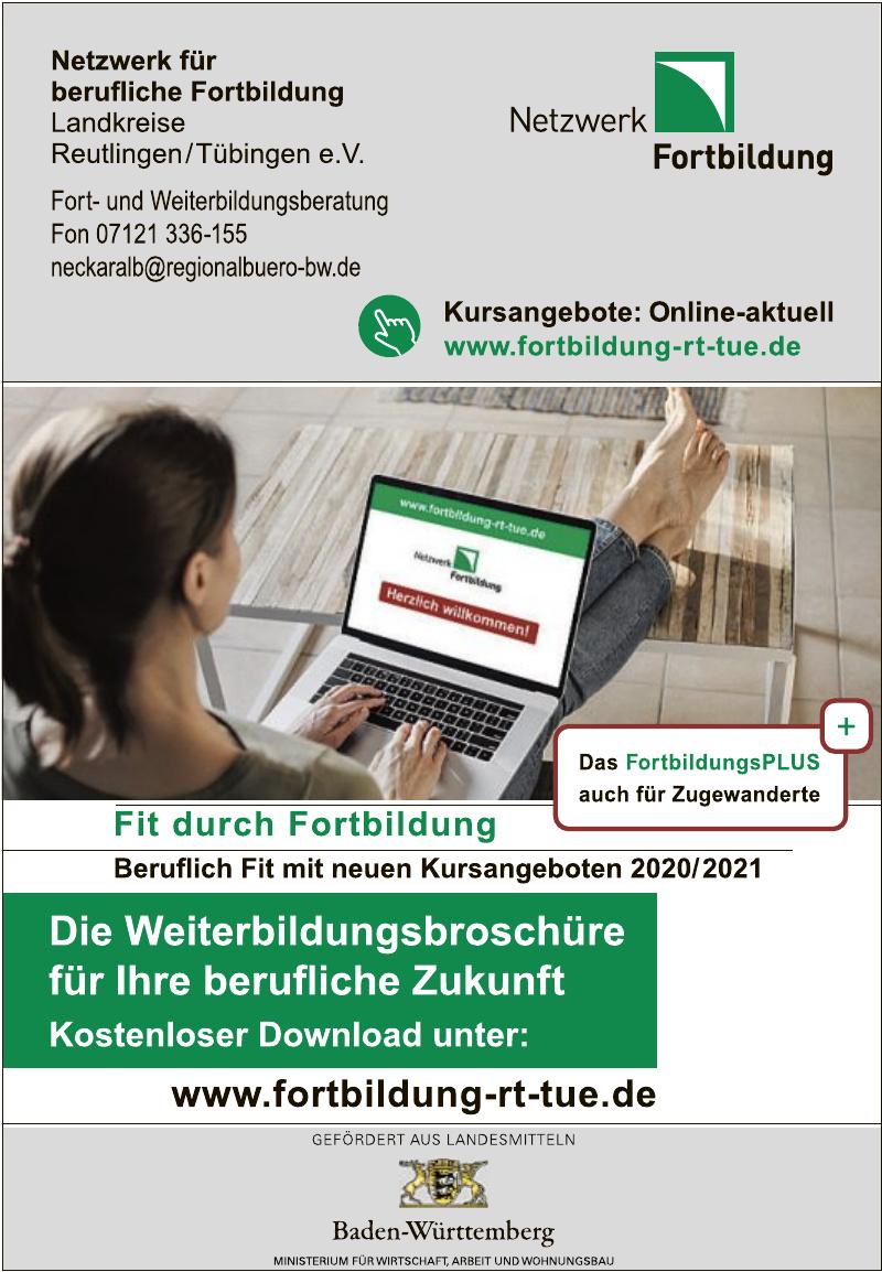 Netzwerk für berufliche Fortbuildung Landkreise Reutlingen/Tübingen e.V.