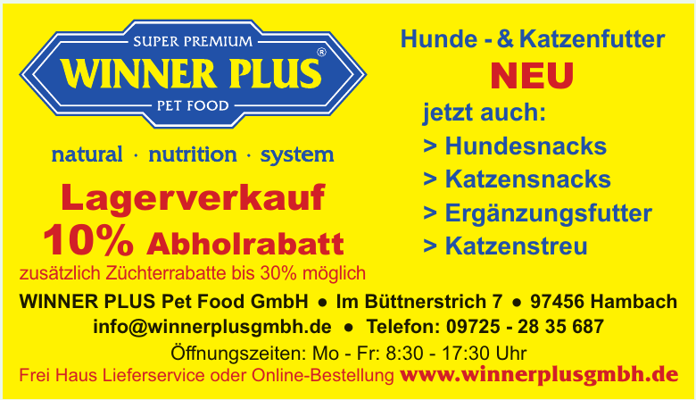 WINNER PLUS Pet Food GmbH