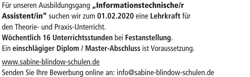 Sabine Blindow-Schulen GmbH & Co. KG