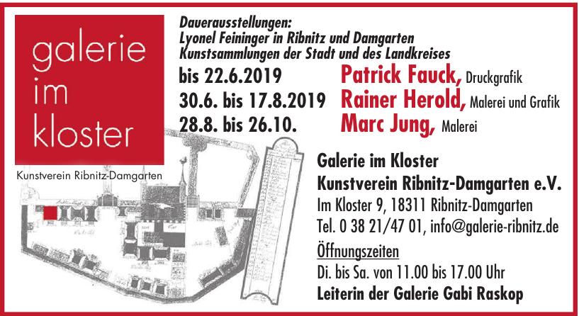 Galerie im Kloster Kunstverein Ribnitz-Damgarten e.V.