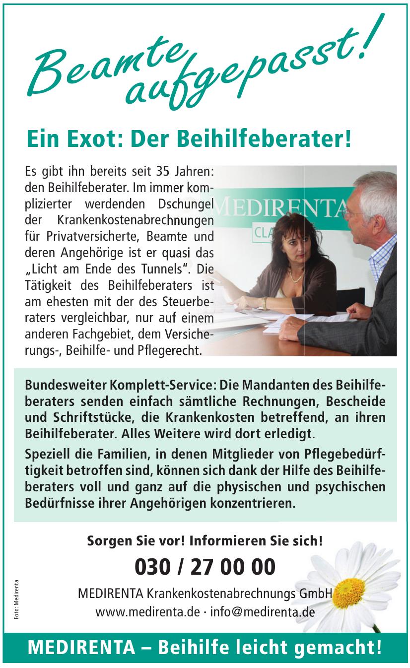 Medirenta Krankenkostenabrechnungs GmbH