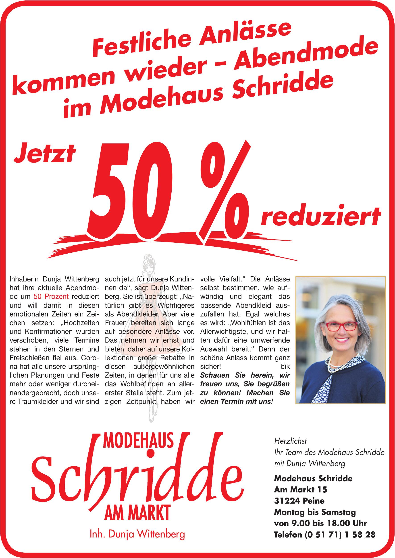 Modehaus Schridde am markt - Inh. Dunja Wittenberg