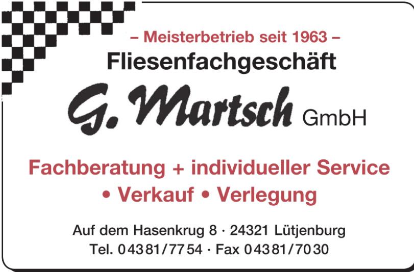 Fliesenfachgeschäft G. Martsch GmbH