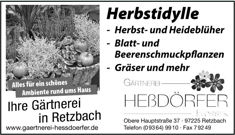 Gärtnerei Heßdörfer Floristik