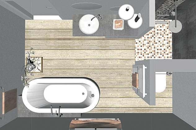 Auch aus einem kleinen, unscheinbaren Bad lässt sich eine Wohlfühoase zaubern. FOTO: JAGEBHARDT
