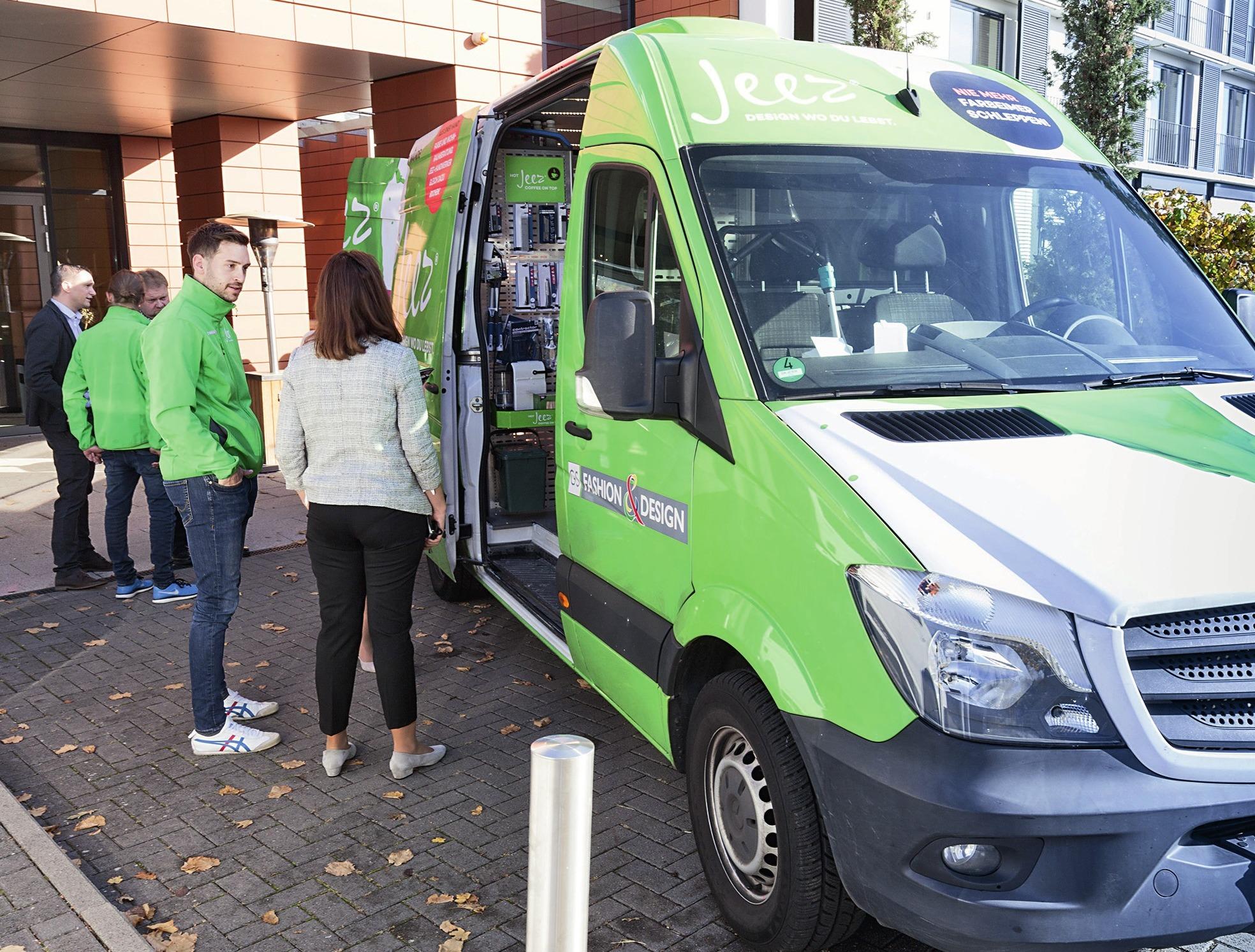 Jeez - der mobile Baumarkt im Rhein-Main Gebiet kommt zum Kunden.