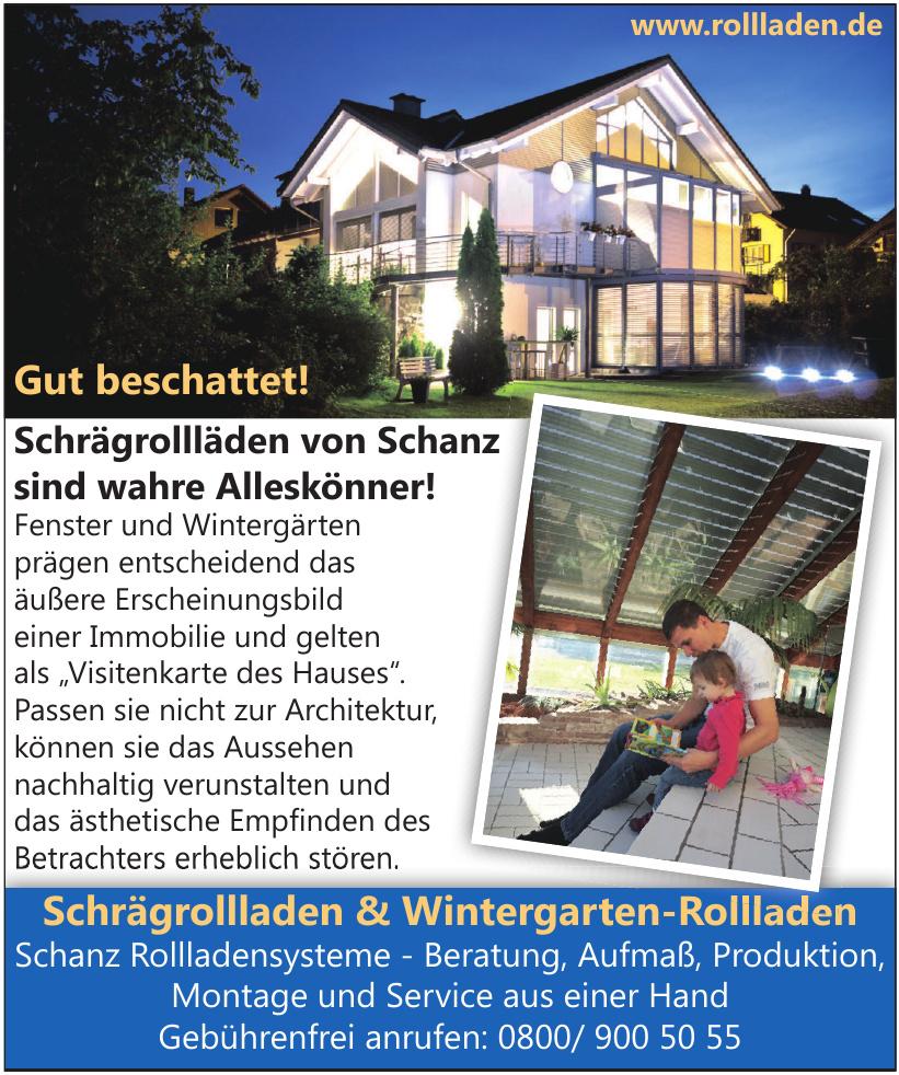 Schrägrollladen & Wintergarten-Rollladen
