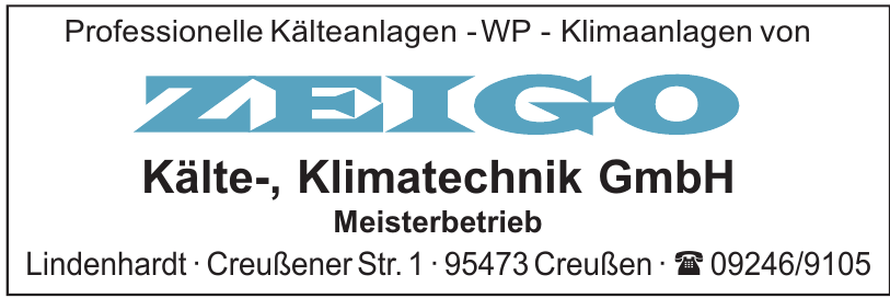Zeigo Kälte-, Klimatechnik GmbH Meisterbetrieb