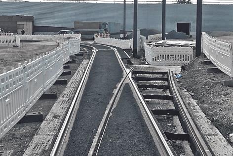 Zahlreiche Gleise werden in Weidenpesch verlegt.
