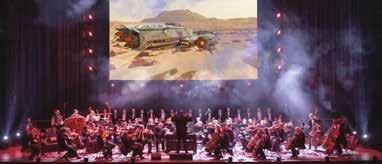 Leinwand-Animationen ergänzen die Show.        Foto: Highlight Concerts