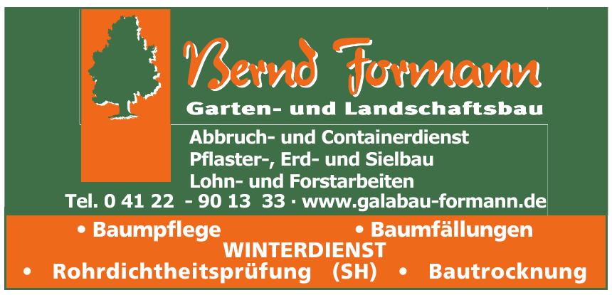 Bernd Formann - Garten und Landschaftsbau