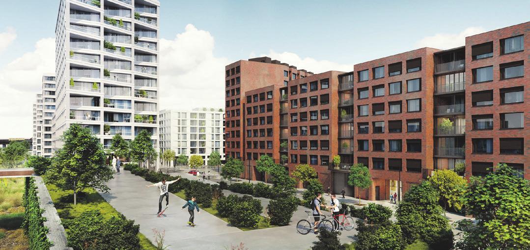 Vielseitiges Quartier. Visualisierung: allod GmbH