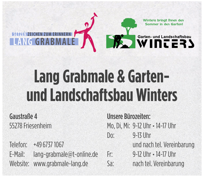 Lang Grabmale & Garten- und Landschaftsbau Winters