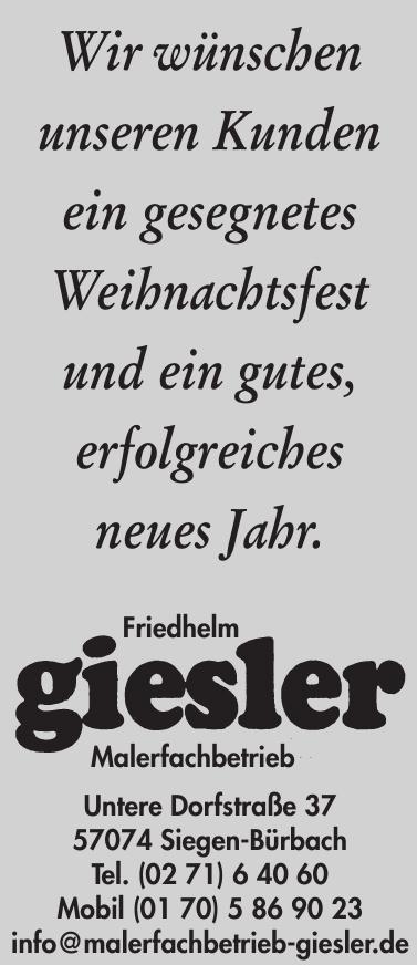 Malerfachbetrieb Friedhelm Giesler