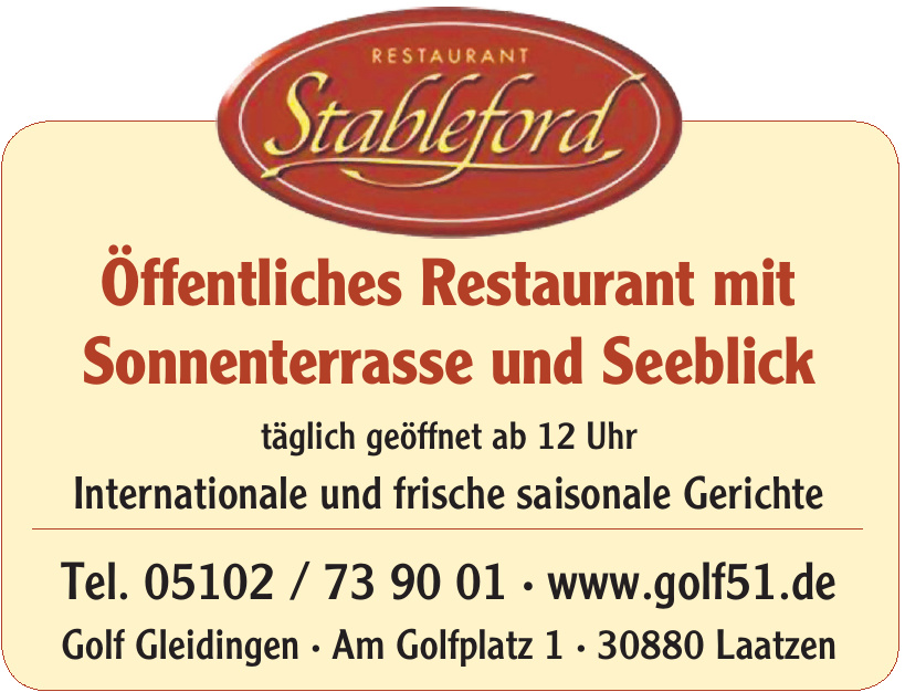 Restaurant Stableford - Golf Gleidingen