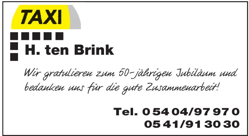 Taxi H. ten Brink